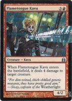 Magic Card Alteration: Scott Pilgrim Flametongue by Ondal-the-Fool