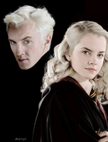 Draco Malfoy and Hermione Granger by ItsLily951