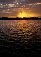 Sunset Maschsee by Akulatraxas