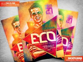 Electro Fantasy Flyer Template PSD by Industrykidz