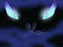 Luna and Nightmare Moon cover Confrotation by HeroHeart001