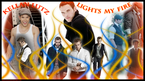 Kellan lutz fire wallpaper by Maewolf86