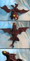 Stuffed Toothless Says Nyahh by Skylanth