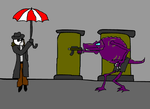 Umbrella Man and Jericho by saximaphone