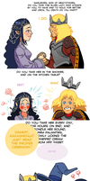 NaruHina Month - Day 9: Lord of the Rings AU by mokkurkalfe