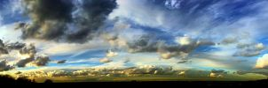 Panoramic Cloudscape II by neoweb