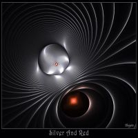 Silver And Red by Brigitte-Fredensborg