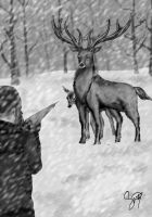 Father Deer by SinaWho