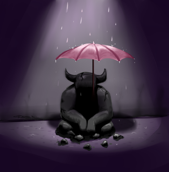 Undertale - Umbrella/Waterfall Statue by the-peppermint-kid