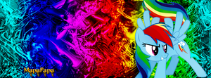 Rainbow Dash Facebook Cover by MapaFapa