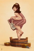 Grape Stomping Pinup by Chronoperates