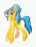 Fleecy In Crayon by foofythepickletroll