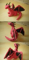 Pink Dragon Sculpture by Pinkfirefly135
