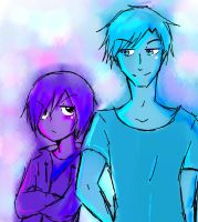 blue and purpuple by sayhe1234