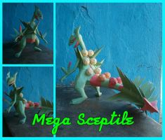 Mega Sceptile papercraft by Everton11