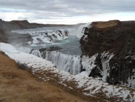 Gullfoss by Crescentfeathermoon