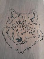 First Scroll saw art by RabbyoSaberwolves