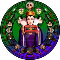 Evil Queen stained glass by jeorje90