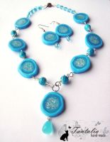 """Necklace """"Daughter of the tribe of Water&quot by Tantalia"""
