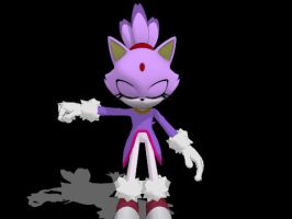 Sonic Generations Blaze for MMD -Update- by Sticklover4