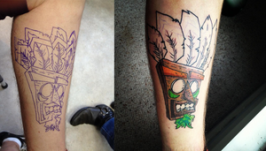 Aku Aku Fanart Tattoo by SuperManosBros