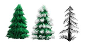 Gamejam trees by ThawedIceMan