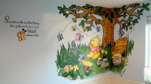 Winnie the Pooh Mural by ursus327