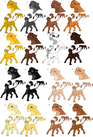 lion king adoptables CLOSED by MoonNightWolve