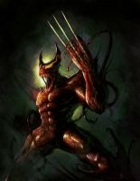Warcage - Wolverine + Carnage by BladeofGoth