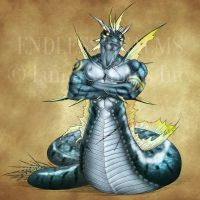 Endless Realms bestiary - Naga by jocarra