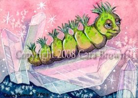 Crystal Caterpillar ACEO by candcfantasyart