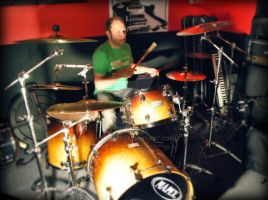 Jase on his drums by Toria17