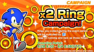 Sonic Runners - x2 Ring Campaign! by supersilver1242