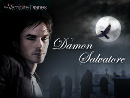 Damon Salvatore Background by ilive4edwardcullen