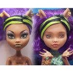 Clawdeen Wolf before and after repaint by AshGUTZ