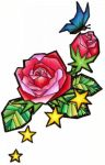 Stained Glass Rose Tattoo by SnowyBunny16
