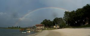 Double Rainbow by the Lake by Jan3090