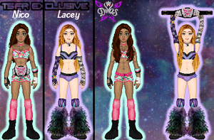 MyWWE: Divas Title Match - Nico vs. Lacey by TerenceTheTerrible
