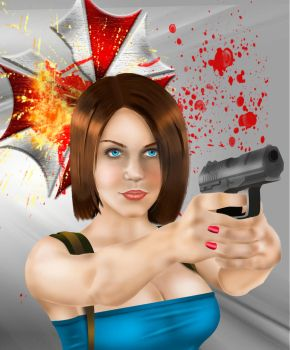 Jill Valentine - Resident Evil 3 (Digital Painting by ChronoRedfield