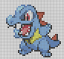 Totodile Cross Stitch Pattern by Xphire906