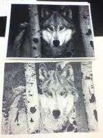 Wolf Dot Pointillism by HowlForLife