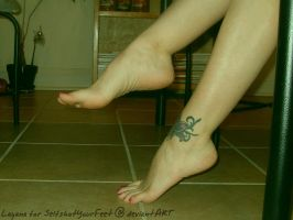 Legs Crossed, Tattoo, Feet by SelfshotYourFeet