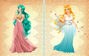 Pincess Asami+Princess Galatea by bloona