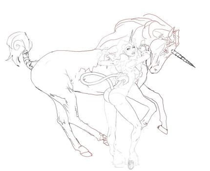 Unicorn girl ready to paint by Call-Boy
