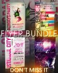 TYPOGRAPHY FLYER BUNDLE - 4IN1 by retinathemes