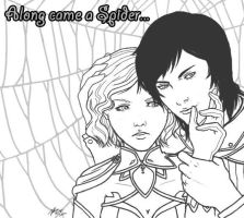 Along came a spider - WIP by maicakes