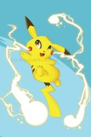 Pikachu Print by Meep-and-Mushrat