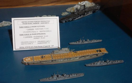 USS Yorktown and USS Enterprise with Destroyers by rlkitterman