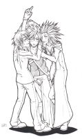 FFVII + KHII for Bloo_lineart by Kumagorochan
