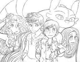 Big Five uncolored by shadowpiratemonkey7